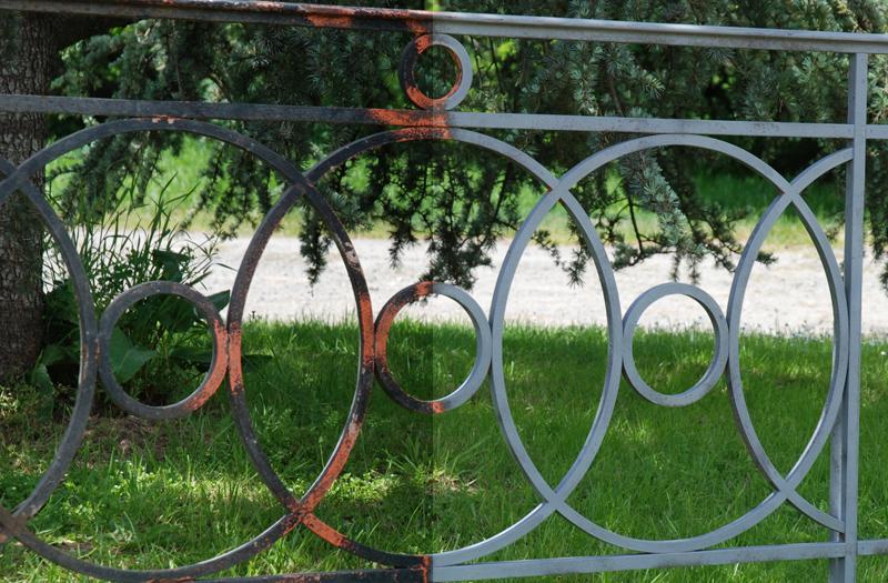 Sablage de poutres charpentes en bois murs en pierre structures m tallique - Decaper un vestiaire metallique ...