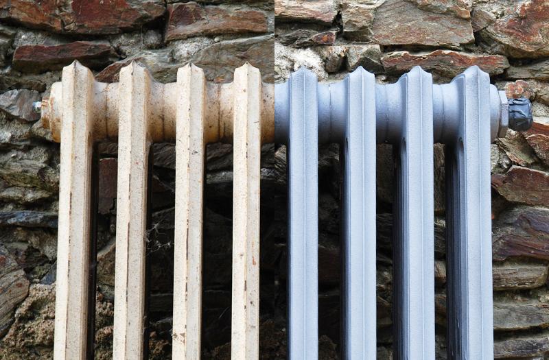 Sablage de poutres charpentes en bois murs en pierre for Decaper un radiateur en fonte